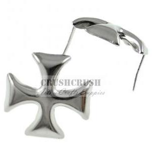50pcs Silver Cross Patonce Studs Cl..