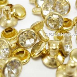 20Set 8mm Crystal Clear Daimond Syn..