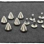 15pcs 8mm Silver Cone SPIKES RIVET..