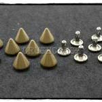 15pcs 8mm Brown Cone SPIKES RIVETS..