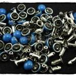 50pcs 6mm Blue Domed Rivets Rapid ..