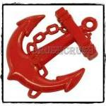 6pcs 39mm RED Anchors Helms Nautic..