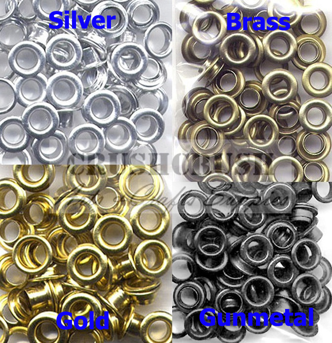FREE SHIP--50pcs 7/32' Hole Metal Eyelets Washer Grommet Scrapbooking Studs Silver--E081