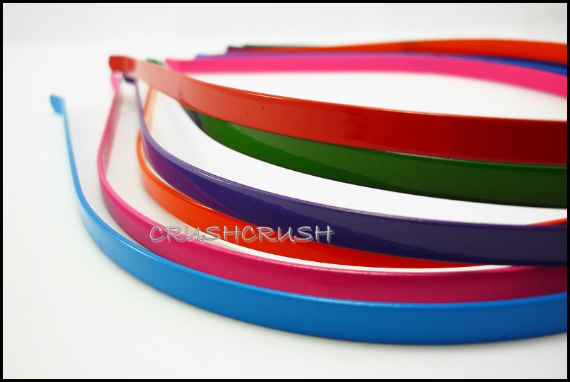 12pcs 5mm Colors Metal headbands with BENT END Wholesale lot H13