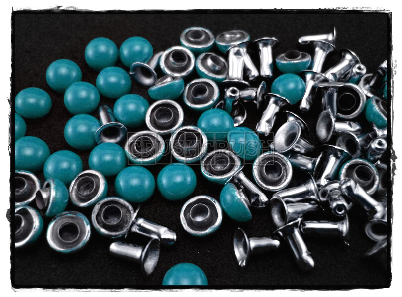 50Set 6mm BlueTurquoise Dome Rivets Leather RV1206