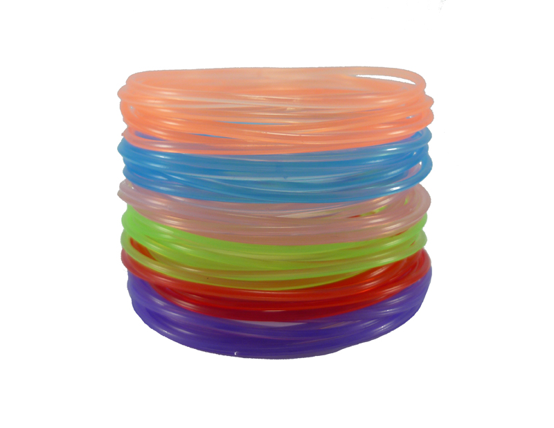 30pcs Transparent GUMMY Bangle Band Bracelets Plastic Gummies Wristband Punk A3