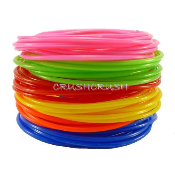 FREE SHIPPING 30 GUMMY Bands Bracelet Mixed Color Plastic Gummies A2